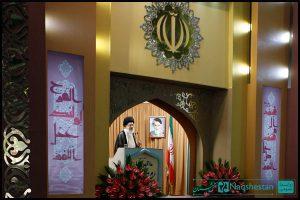 طراحی و ساخت دکور جایگاه سخنرانی رهبر در عید فطر 91