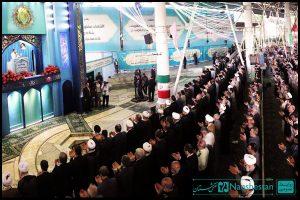 طراحی و ساخت دکور جایگاه سخنرانی رهبر در عید فطر 92